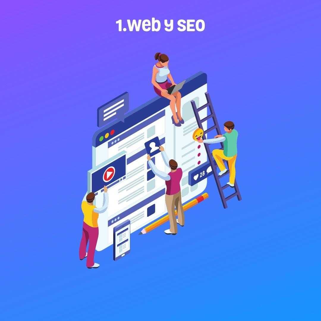 personas moviendole a la web y al SEO